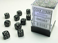 Chessex Dice - 12mm d6 - Borealis - Smoke/Silver CHX27828