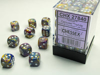 Chessex Dice - 12mm d6 - Festive - Carousel/White CHX27840