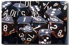 Chessex Dice - Polyhedral - Translucent - Smoke w/White CHX23078 CHX23008