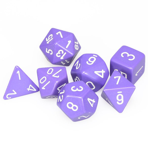 Chessex Dice - Polyhedral - Opaque - Purple w/White CHX25407