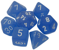 Chessex Dice - Polyhedral - Frosted - Blue w/White CHX27406