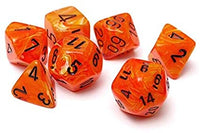 Chessex Dice - Polyhedral - Vortex - Orange w/Black CHX27433