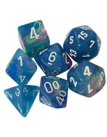 Chessex Dice - Polyhedral - Festive - Waterlily w/White CHX27546