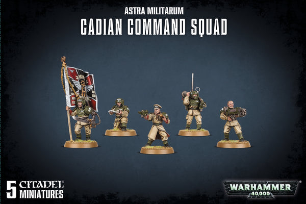 Warhammer 40K Astra Militarum Cadian Command Squad 47-09