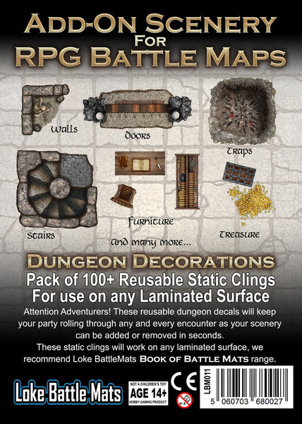 Add-on for Scenery for RPG Battle Maps: Dungeon Decorations