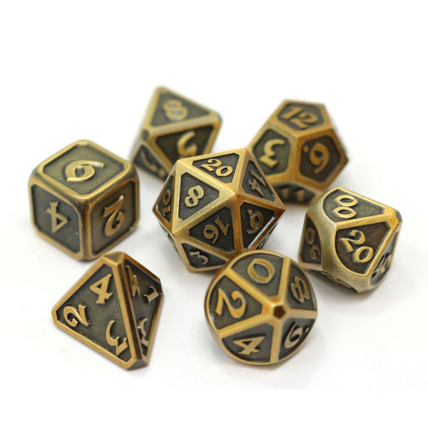 Die Hard Metal Dice - Polyhedral - Mythica Battleworn Gold
