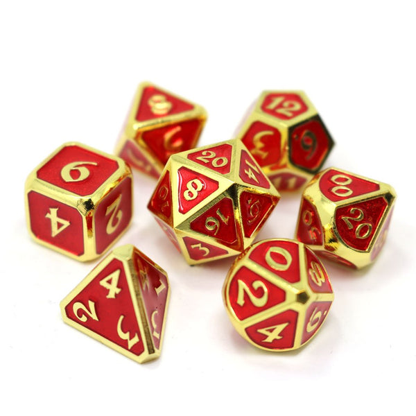 Die Hard Metal Dice - Polyhedral - Mythica Gold Ruby