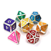 Die Hard Metal Dice - Polyhedral - Mythica Platinum Rainbow
