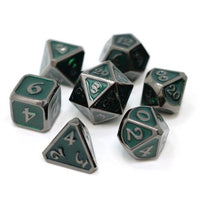 Die Hard Metal Dice - Polyhedral - Mythica Sinister Emerald