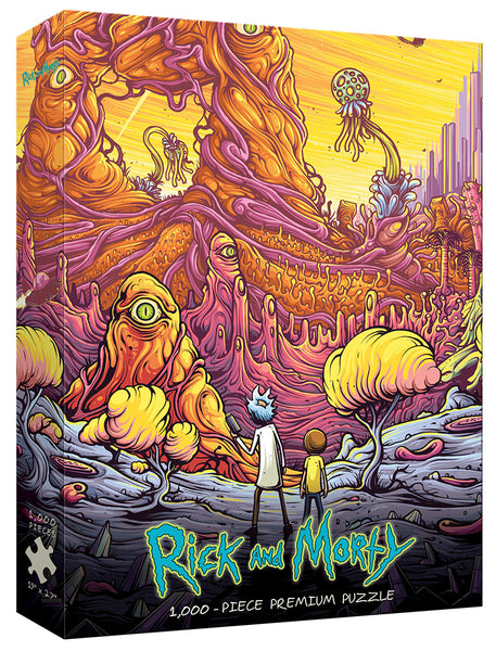 "USAopoly Puzzle Rick & Morty ""Into the Rickverse"" 1000pc"
