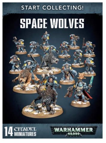 Warhammer 40K Start Collecting! Space Wolves 70-53