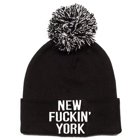 New Fuckin' York Beanie - with/without Pom (Cotton)