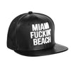 Miami Fuckin' Beach Baseballcap Hat - Snapback/Watch (Lambskin Leather)