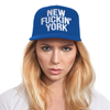 Blue New Fuckin' York Baseballcap Hat - Snapback Closure (Cotton)
