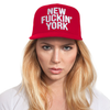 Red New Fuckin' York Baseballcap Hat - Snapback Closure (Cotton)