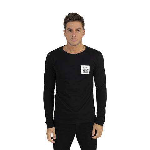 Black New Fuckin' York Long Sleeve T-Shirt
