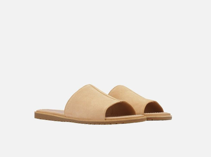 Sorel Ella Block Slide Beige - Dear Lucy