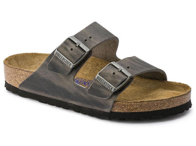 Birkenstock Arizona Iron Leather Soft Footbed - Dear Lucy
