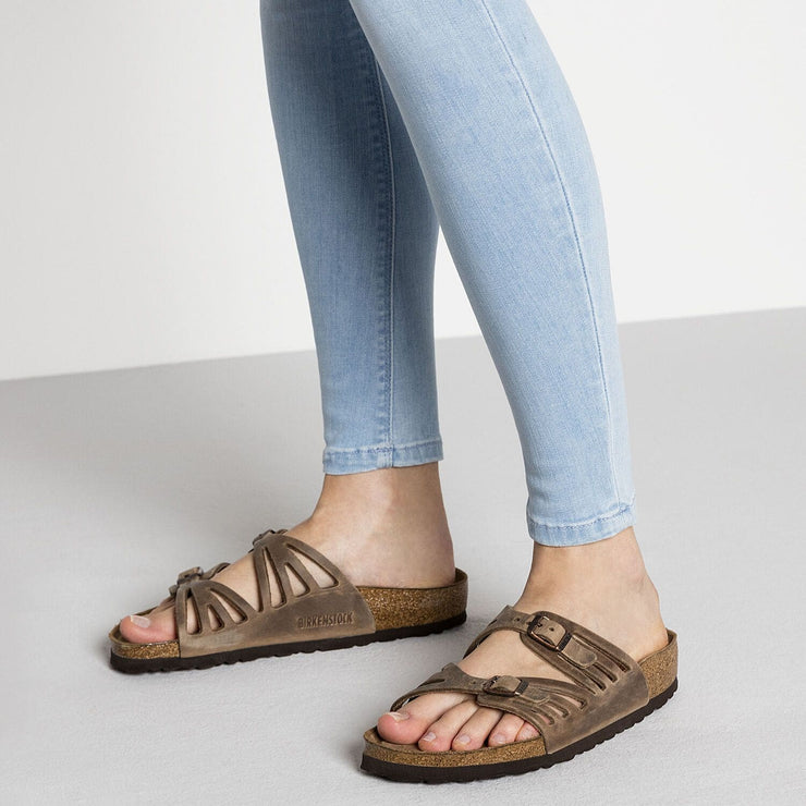 Birkenstock Granada Narrow Tobacco Leather - Dear Lucy