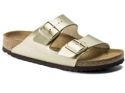 Birkenstock Arizona Gold Birko-flor Narrow - Dear Lucy