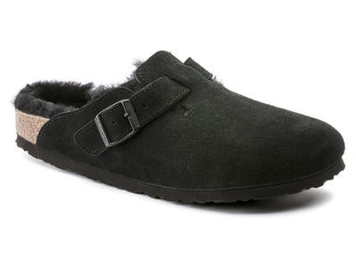 Birkenstock Boston Shearling Black - Dear Lucy