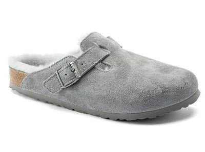 Birkenstock Boston Shearling Dove Grey - Dear Lucy