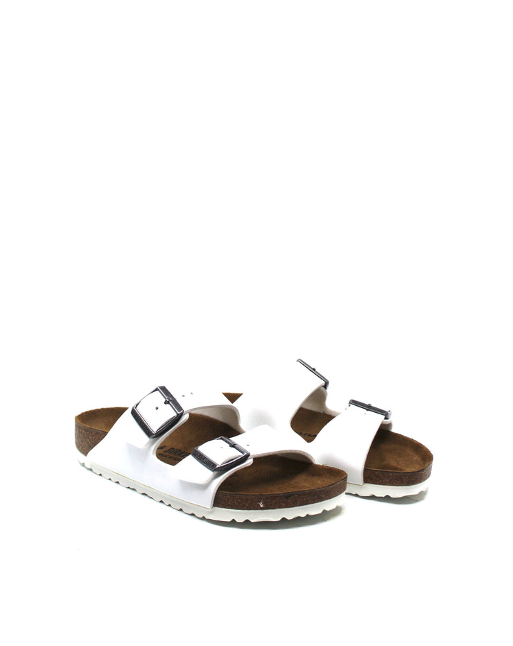 Birkenstock Arizona White Birko-Flor Narrow - Dear Lucy