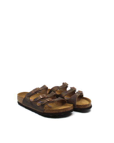 Birkenstock Florida Tobacco Leather Soft Footbed - Dear Lucy