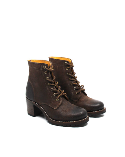 Frye Sabrina 6G Lace Up Dark Brown - Dear Lucy