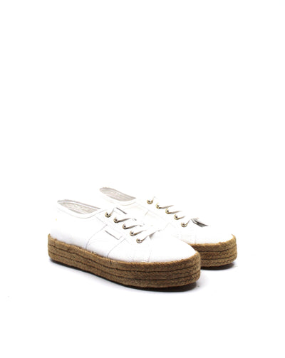 Superga 2730 Rope Platform White/Gold - Dear Lucy