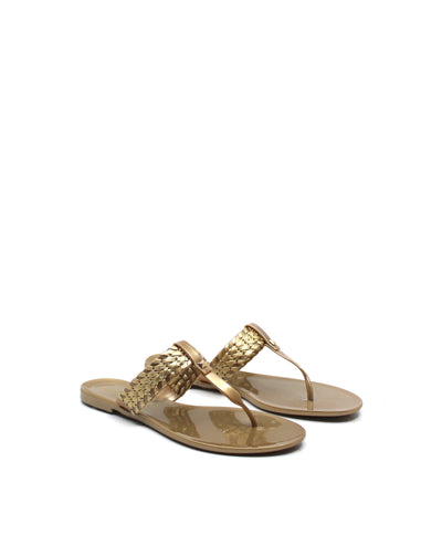 Jack Rogers Tinsley Jelly Gold - Dear Lucy