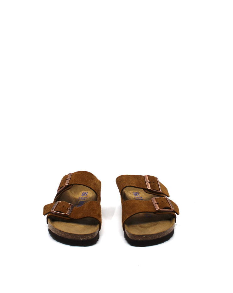 Birkenstock Arizona Mink Suede Narrow Soft Footbed - Dear Lucy