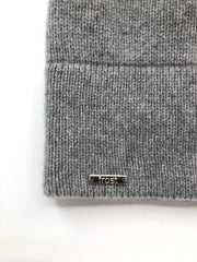 Frost Cashmere Slouchy Beanie Light Grey - Dear Lucy