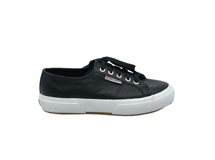Superga 2750 Nappa Leather Black - Dear Lucy