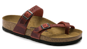 Birkenstock Mayari Earth Red Leather - Dear Lucy