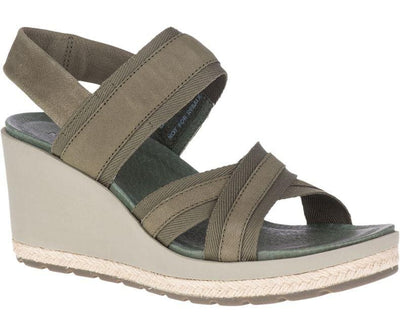 Merrell Kaiteri Wedge Strap Olive - Dear Lucy