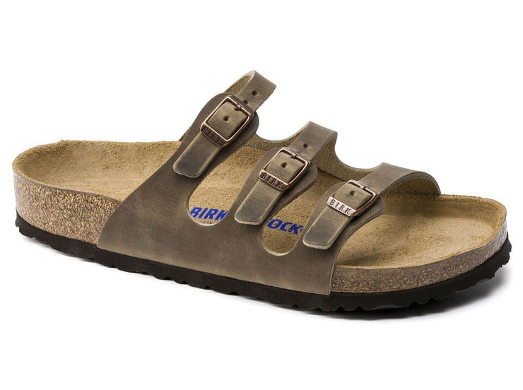 Birkenstock Florida Tobacco Leather - Dear Lucy