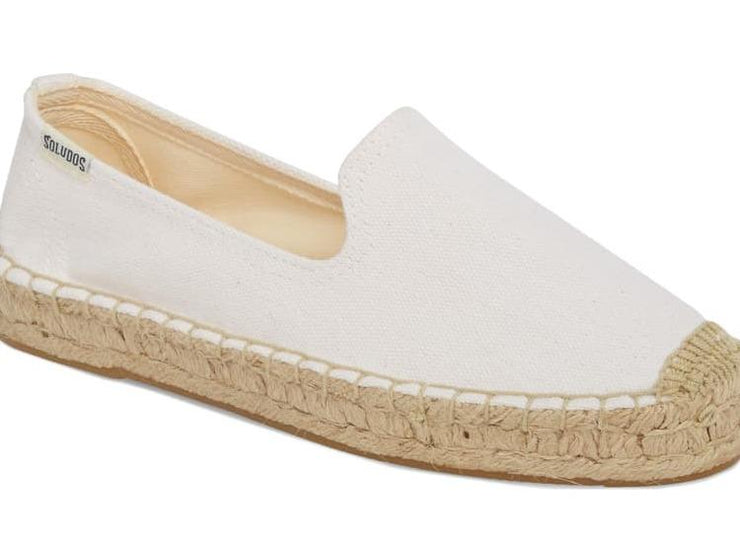 Soludos White Canvas Smoking Slipper - Dear Lucy