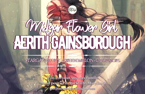 Midgar Flower Girl: Aerith Gainsborough - Potions & Pyrelight