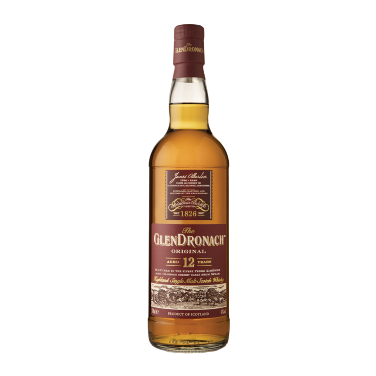 The Glendronach - 12 Years Highland Single Malt Scotch Whisky