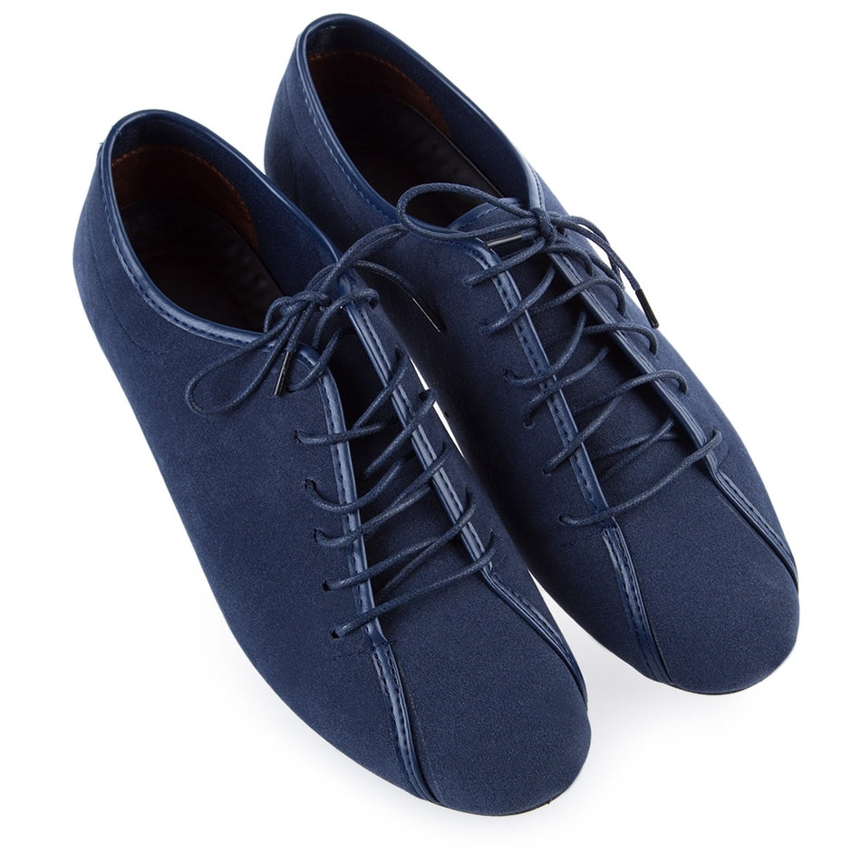 Casual Flats Lace Up Breathable Closed Round Toe Suede Stylish Leather Shoes