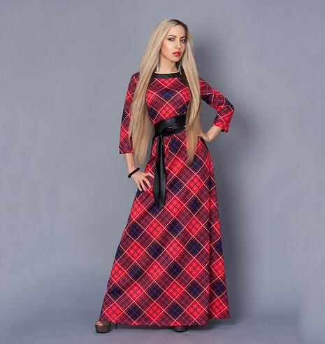 Elegant Bohemian Print Plus Size Long Dress