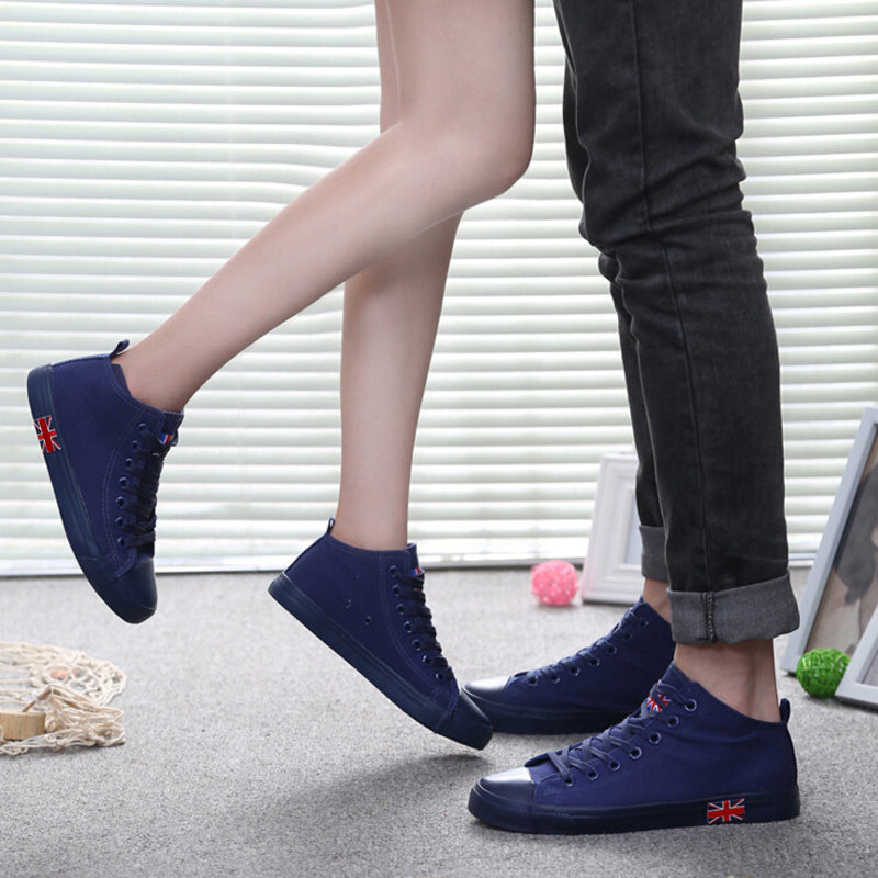 Casual Unisex High Canvas Breathable Flat Sneakers