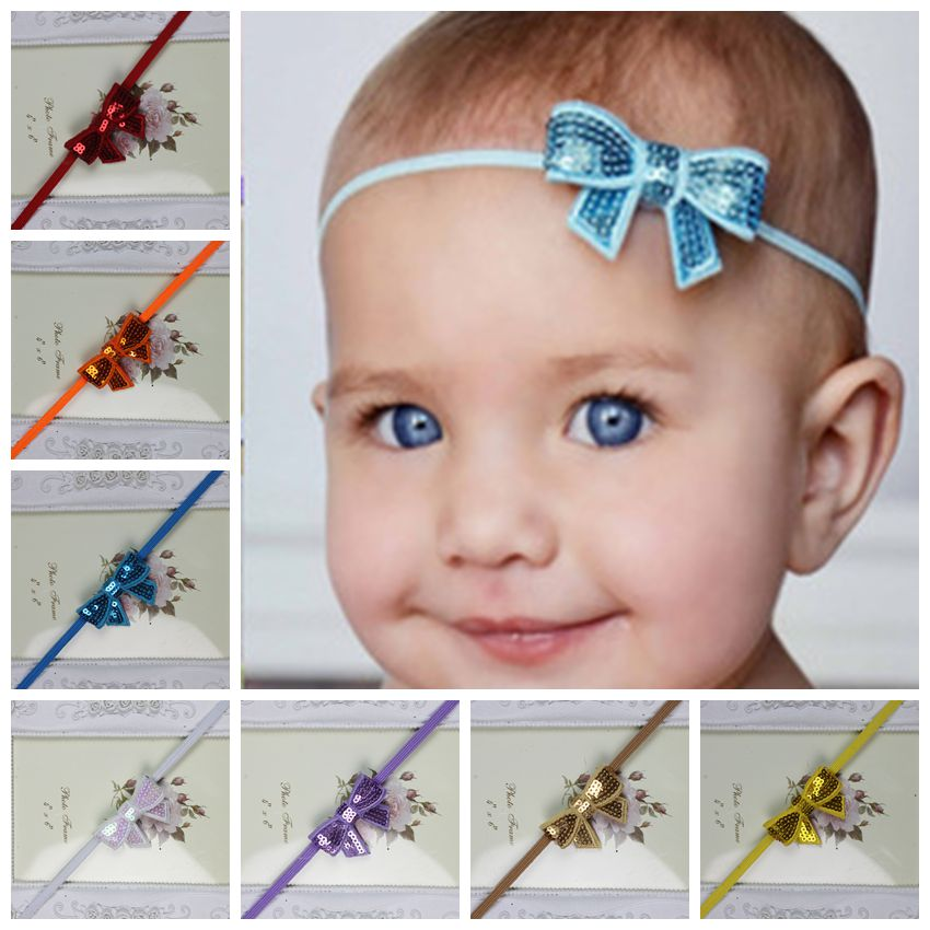 Cute Flower Sequin Bow Headband