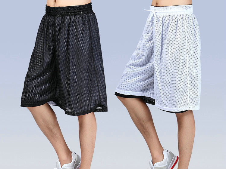 Loose Solid Big Size Double Faced Basketballs Shorts