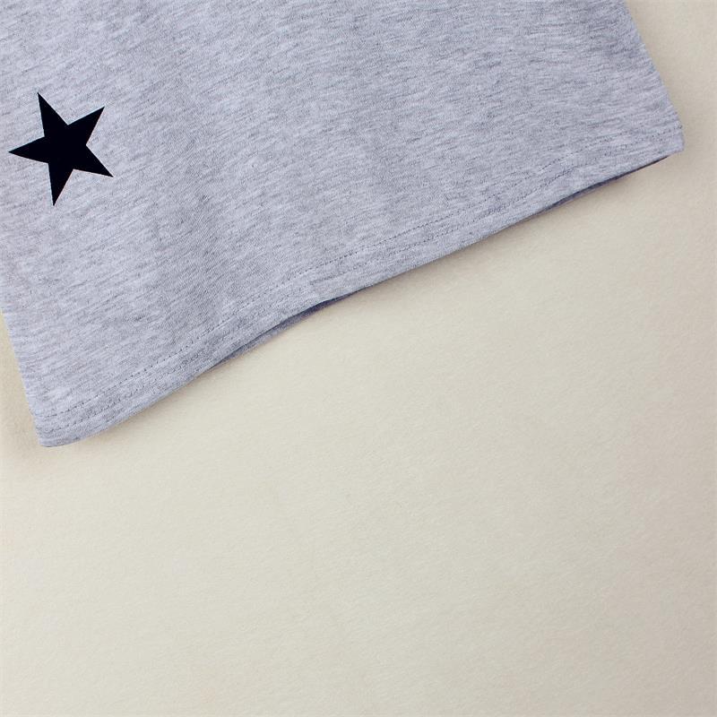 Cute Star Design Short Sleeve Cotton T-shirt