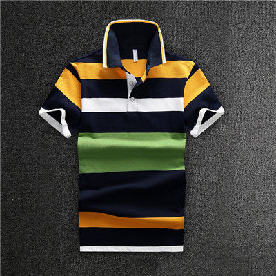 Trendy Business Short Sleeve Cotton Poloshirt