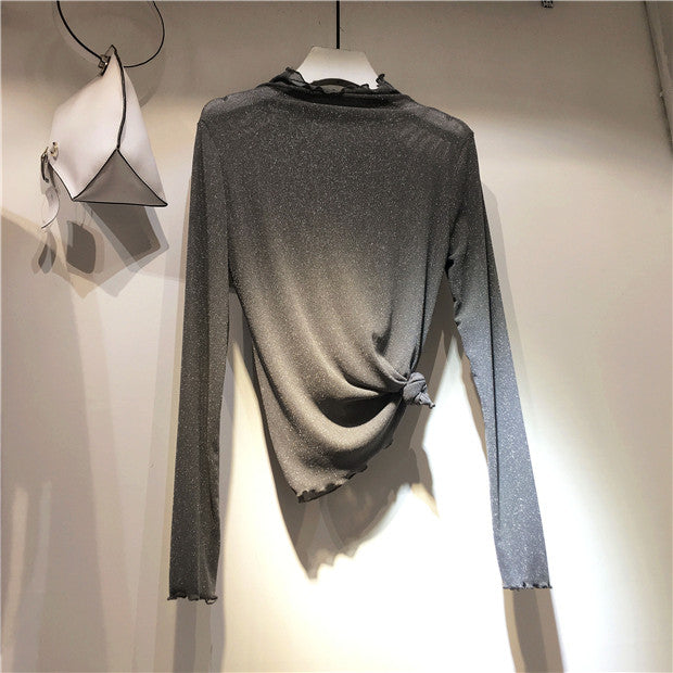 All Match Sexy Long Sleeve Knitted T-Shirts
