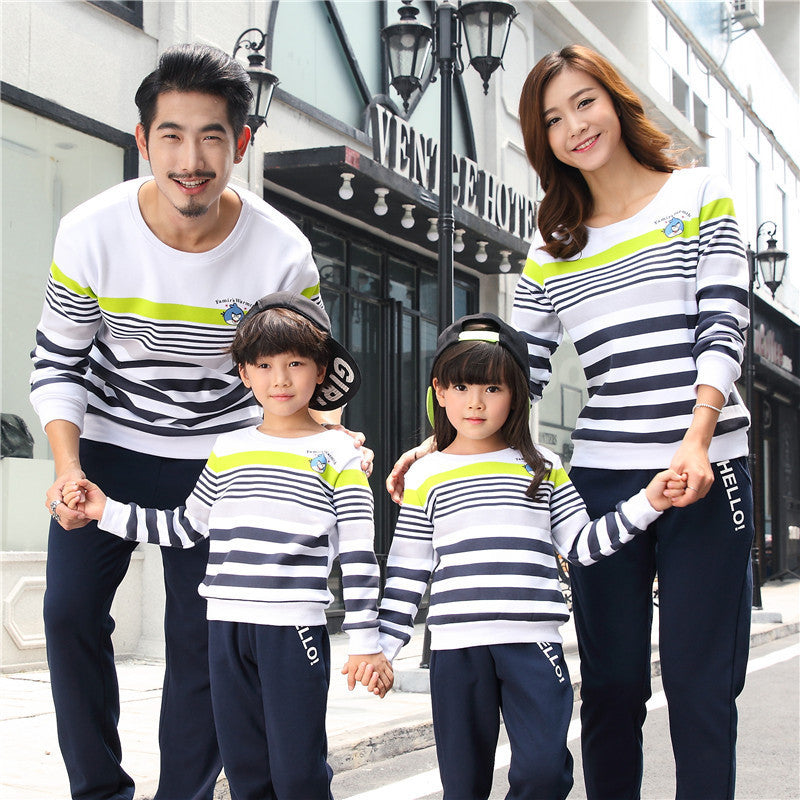 Cotton Long Sleeve Sweatshirts Family Matching Outfits