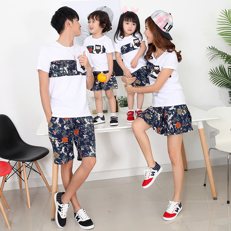 Family Clothing Summer Cotton Short Sleeve T-Shirt